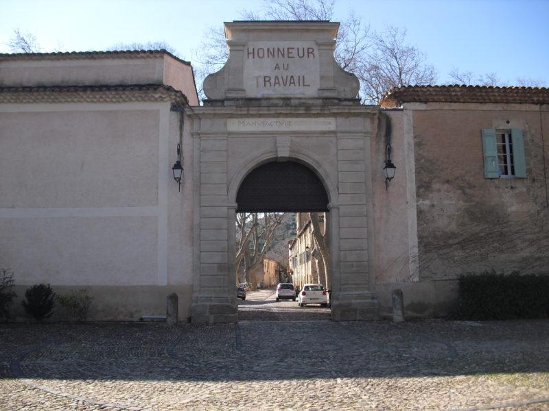 Porte d'entrée de la Manufacture Royale